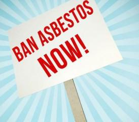 Ban Asbestos Now sign