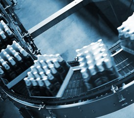 Bottles at a supplier factory