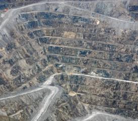Canadian asbestos mine in Quebec