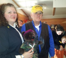 VFW State Commander Renee Simpson with her father Dennis Lockington