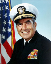 Photograph of U.S. Navy Admiral Elmo Zumwalt, who died of mesothelioma
