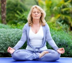 Patient Practicing Meditation