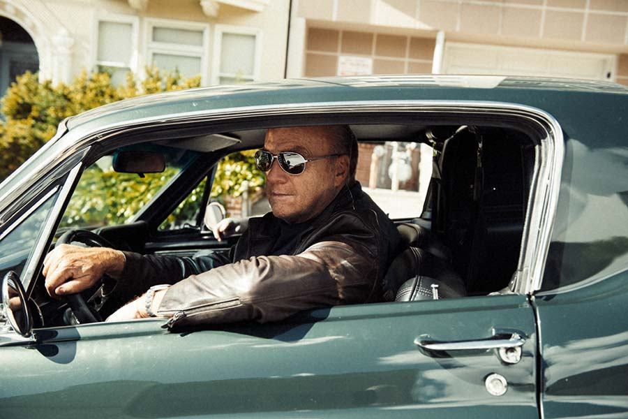 Greg Laurie in a 1968 Ford Mustang