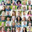 Montage of diverse faces