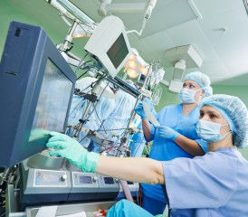 Doctors with medical equipment