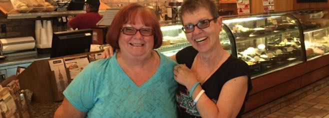 Peritoneal Mesothelioma survivor, Judy Goodson and her friend