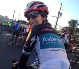 Karen Selby, Mesothelioma Patient Advocate Bike Racing
