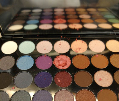 Claire's makeup that tested positive for asbestos contamination.