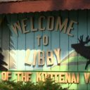 Welcome sign in Libby, Montana