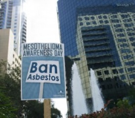 Mesothelioma Awareness Day Ban Asbestos Sign