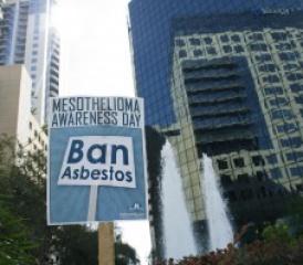 Mesothelioma Awareness Day Ban Asbestos Sign