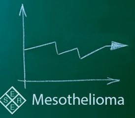 Mesothelioma written on a green chalkboard with arrows