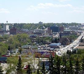 View of Minot, North Dakota