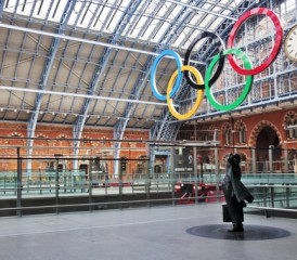 Olympic site with Olympic rings