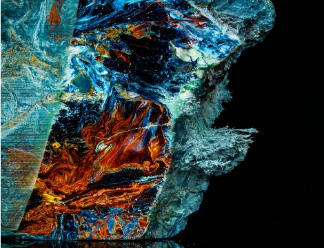Pietersite raw mineral sample