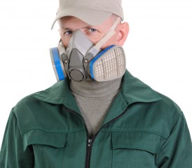 Respirator Mask to prevent inhaling asbestos fibers