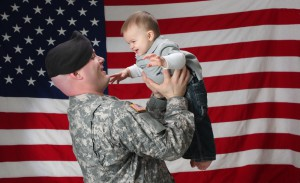 Veteran with Mesothelioma and son