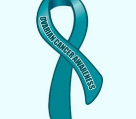Ovarian cancer awareness ribbon