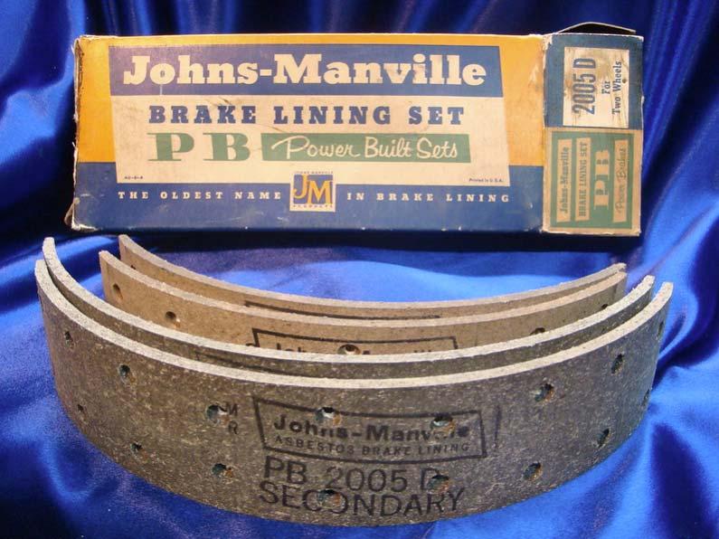 Johns-Manville brake lining set made with asbestos