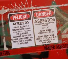 Asbestos Dumping Sign