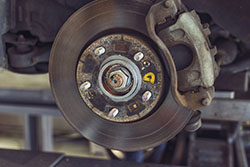 Brake and disc of a car