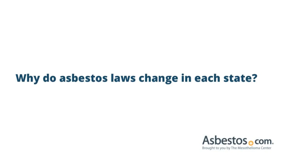 Video about how asbestos laws vary by state