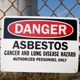 Danger Asbestos Warning Sign