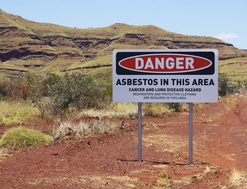 Asbestos warning in Wittenoom