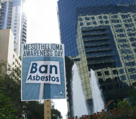 Mesothelioma Awareness Day Sign