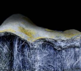 Sample of blue asbestos