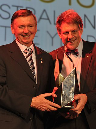 Bruce Robinson Receiving Award