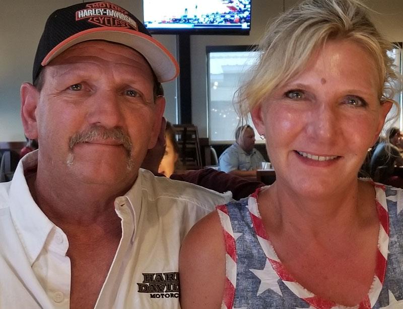 Chris Shelton with wife Tammy