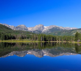 View of Rocky Mountains in Colorado