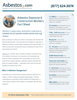Construction Workers Asbestos Fact Sheet