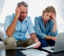 Older couple coping with stress
