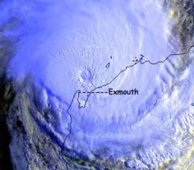 Radar imagery of 1999's Hurricane Vance in Australia.