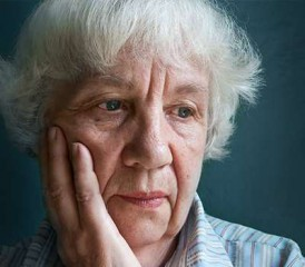 Older Woman Grieving
