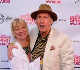 Mia Lauter with her husband, Ed Lauter, at Spirit Awards