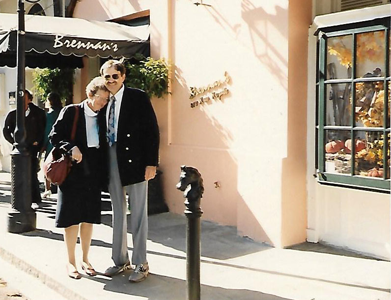 Emily Ward and her husband, Stan, in New Orleans in the early 1990s