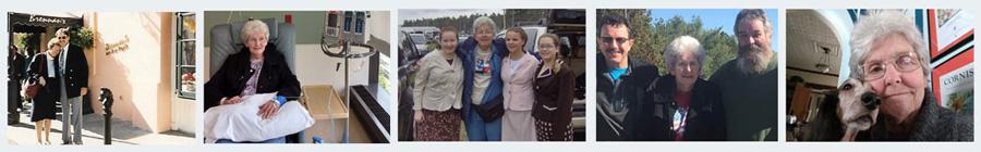 Mesothelioma survivor Emily Ward's family photos