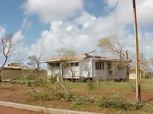 Typical Exmouth house showing damages from Cyclone Vance