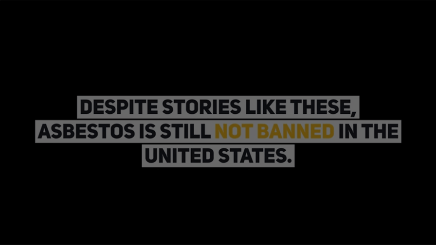 Video sharing stories of people affected by asbestos exposure