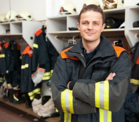 Firefighter in a suit