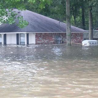 Flooded home in Baton Rouge, Louisiana