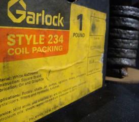 Garlock brand asbestos coils
