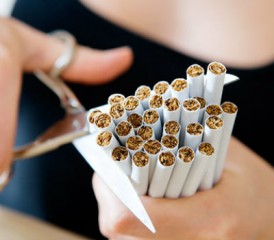 Cutting up cigarettes and quitting