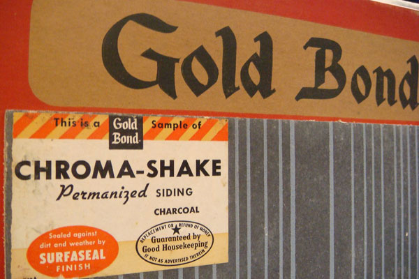 Gold Bond product advertising asbestos