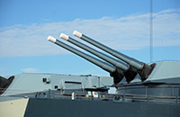 Guns on a Naval ship