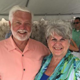 Gene Hartline, pleural mesothelioma survivor, with his wife