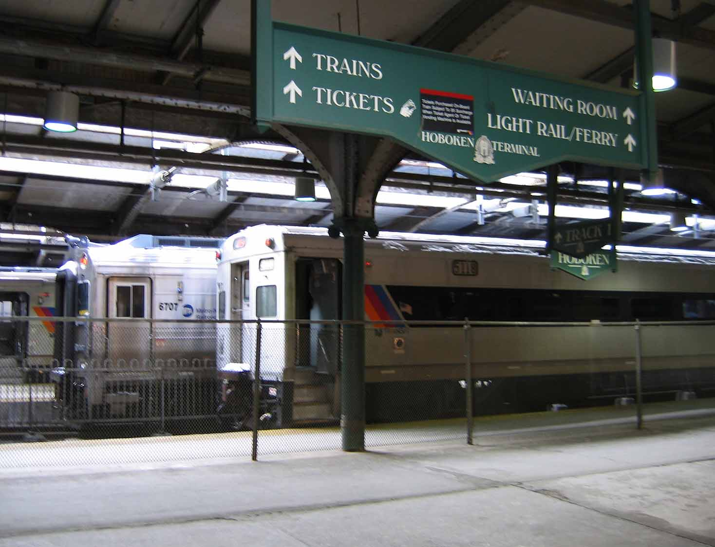 Hoboken terminal in New Jersey